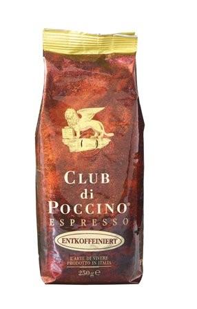 Vorteilspreis! CLUB di POCCINO entcoffeiniert Espresso 12 x 250g Bohnen