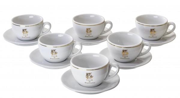 Vorteilspreis! CLUB di POCCINO Cappuccino-Tassen 6er Pack