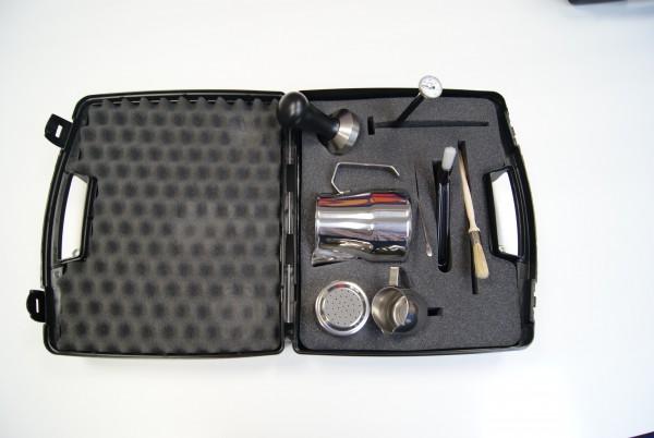Barista Set im praktischen Koffer Schwarz