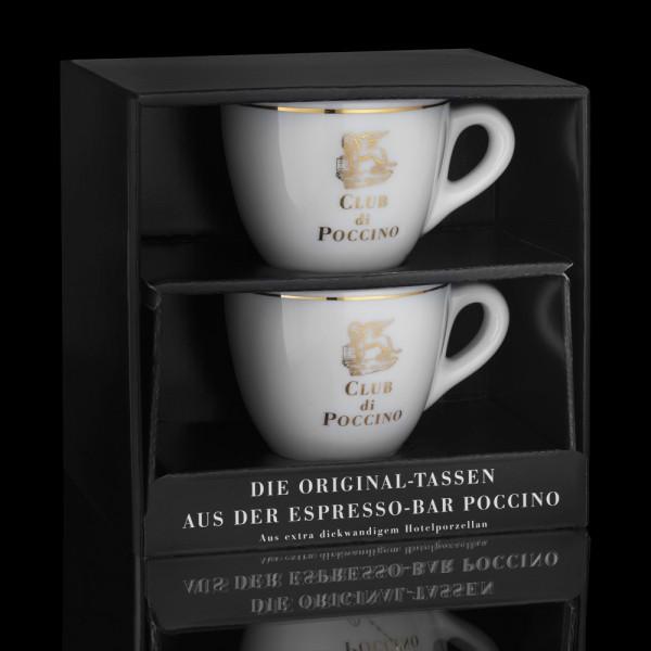 CLUB di POCCINO Espresso-Tasse 2er Geschenkset