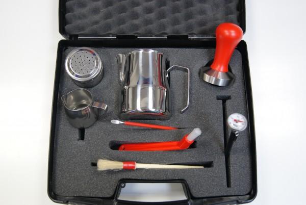 Barista Set im praktischen Koffer ROT